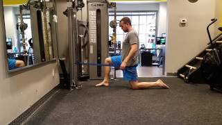 Mobility  Hip Flexor Lunge Stretch with banded distraction
