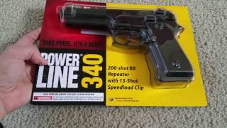 Unboxing Daisy BB Pistol Hand Gun Powerline 340 Series Full HD 2017!