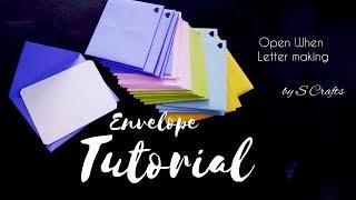 Paper Envelope Tutorial | Open When Letter Tutorial | Handmade | S Crafts | Gift Ideas | Gift Making