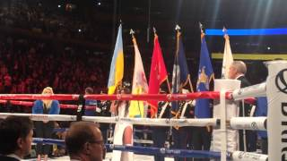 Руслана - Гімн України - Wladimir Klitschko vs Bryant Jennings boxing match opening MSG, New York