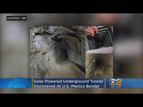 Solar-Powered Underground Tunnel Discovered Under US-Mexico Border