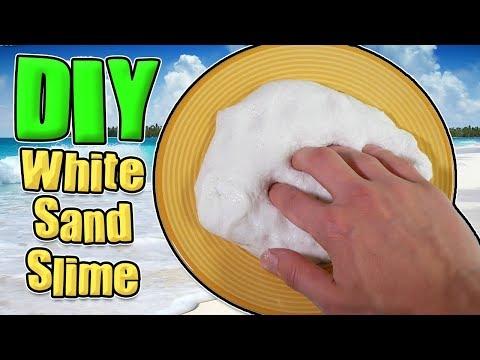 DIY WHITE SAND SLIME - NO BORAX, LIQUID DETERGENT, ALMAT (UK RECIPE)