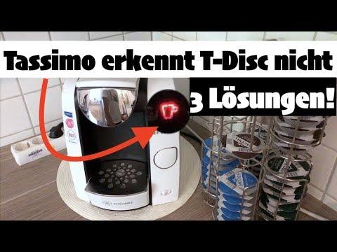 TASSIMO: Tasse leuchtet rot & erkennt T-Disc nicht - 3 Lösungen!