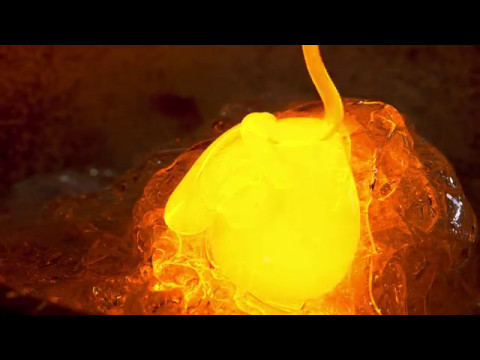 Real 4K HDR 60fps: Sony Glass Blowing Demo for Bravia A1E OLED in HDR (Chromecast Ultra)