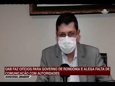 Presidente da OABRO, Elton Assis, fala à TV Meridional sobre a crise no sistema hospitalar de RO