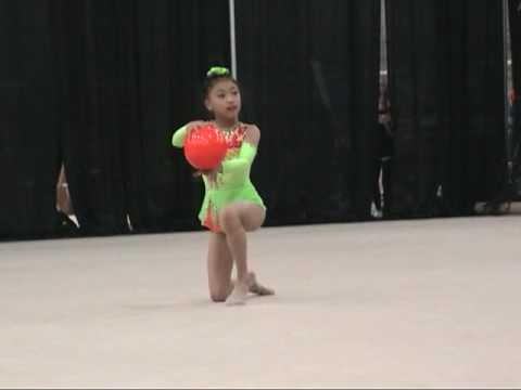 10-yr-old Elena Ball at 2010 US National Rhythmic Gymnastics 新体操小学生
