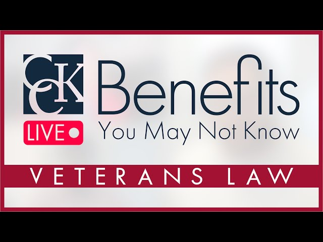 Veterans' Benefits You May Not Know