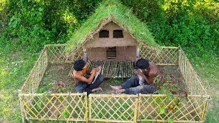Build Bamboo Dogs House