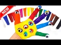 Learn Colors For Children Fun Body Paint Finger Family Song Nursery Rhymes