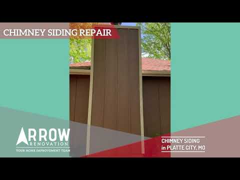 Siding Repair on a Chimney in Platte City, MO