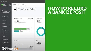 How to record a bank deposit (using undeposited funds)