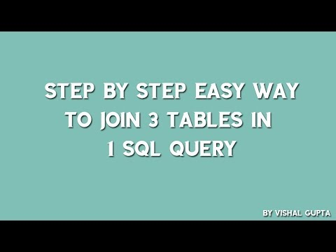 Step by step easy way to join 3 tables in 1 SQL query