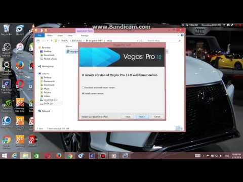 How to download and install Sony Vegas Pro 12   របៀប