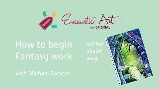Encaustic Art Learning - Beginning Fantasy Work