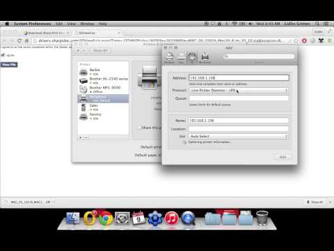 How To Setup Printing with Mac OSX on Sharp Printer