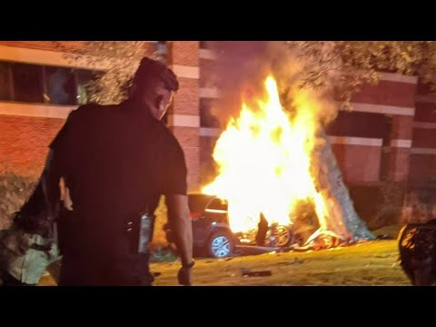 Driver rescued from burning vehicle in Farmington Hills
