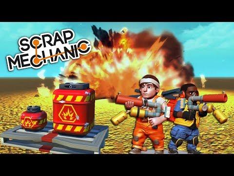 ZBRANĚ A VÝBUCHY ! - Scrap Mechanic UPDATE