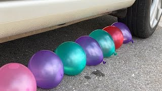Experiment Car vs Water Balloons | Crushing crunchy & soft things by car | Test Ex