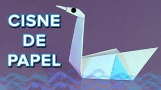 Cómo hacer un cisne de papel. Origami