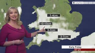 Weather Events 2019 - Weather forecast - snow is coming (UK) - BBC News - January 2019