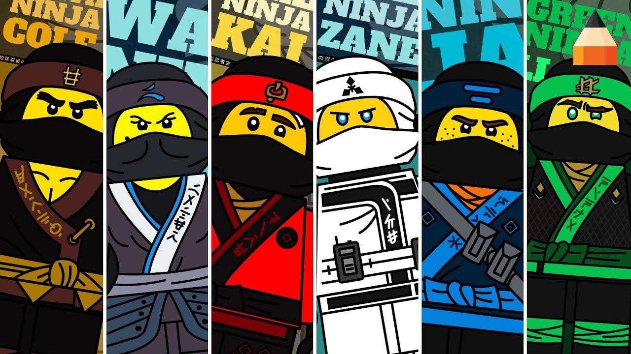 How To Draw Lego Ninjago Movie Minifigures Animation
