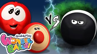 Running Crayons Vs Squishy Balls   Funny Cartoons For Kids   Wonderballs Official