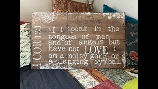 Wood Plank Love Sign And The Uber Accident Using IOD Barnwood Typesetting Decor Stamps!