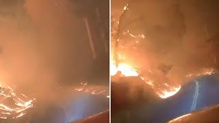 video: Watch: Firefighters in California share what it's like driving through a wildfire