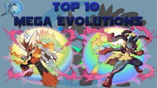 Top 10 Mega Evolutions