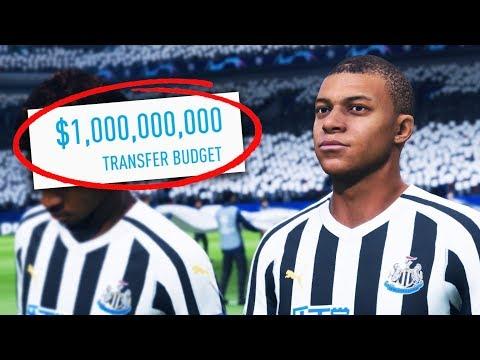I Gave NEWCASTLE UNITED 1 BILLION DOLLARS!!! FIFA 19 Career Mode