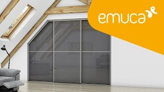 How to assemble a sliding door wardrobe with a sloping Placard roof