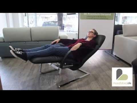 FINO von FRANZ FERTIG Relax-Sessel - Leder Schwarz - mysofabed.de