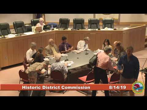Historic District Commission 8.14.19