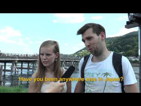 Travelers' Voice of Kyoto:ARASHIYAMA Area Interview 002
