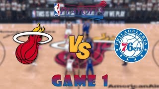 Miami Heat vs. Philadelphia 76ers - Game 1 - Semifinals - 2020 NBA Playoffs! - NBA 2K20