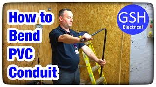 Electrical practical skills bending PVC conduit to 90 degrees (How to Bend 20mm PVC Conduit)