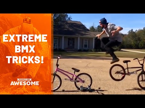 BMX Bike Gravity-Defying Stunts