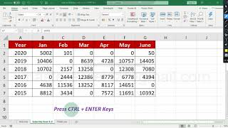 how to fill blank cells in excel with zero at once