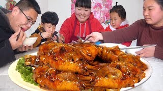 "The northern Shaanxi version of ""beer roast chicken legs"", my daughter loves to eat!"