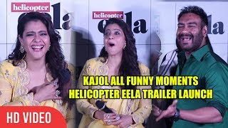 Kajol Back To Back Funny Moments at Helicopter Eela Trailer Launch