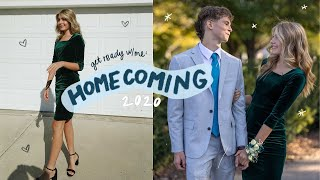 senior year homecoming 2020: get ready with me!