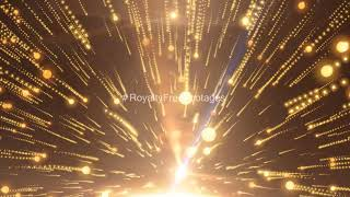 Golden particles moving background effect | Dark background | Royalty Free Footages