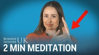 A Meditation Expert Shows Her Stress Relief Tapping Exercise Which You Can Do In 2 Minutes