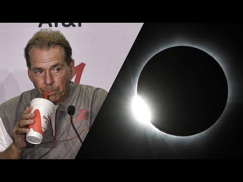 Alabama head coach Nick Saban's thoughts on the upcoming solar eclipse
