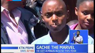 Samson Gachie marvels many for scoring A- having scored 277 marks in KCPE