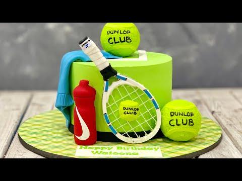 Как оформить торт теннисисту