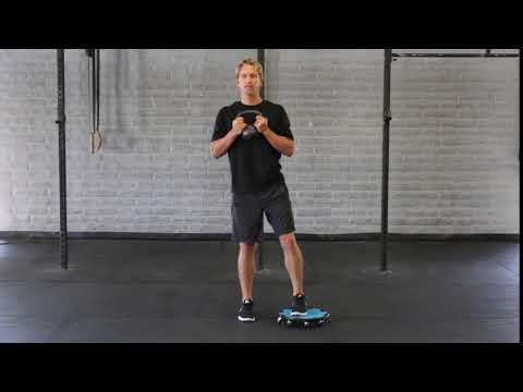 Crossover Lunge – Kettle Bell