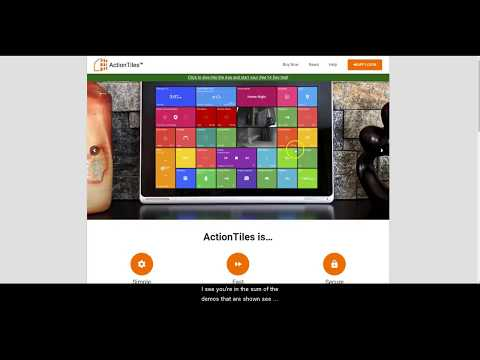 ActionTiles Overview SmartThings Integration for Tablet or
