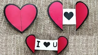 DIY - How To Make An Easy Paper Heart With A Message | ❤ DIY Heart Greeting Cards