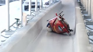 The Italian women's team makes their debut in bobsleigh